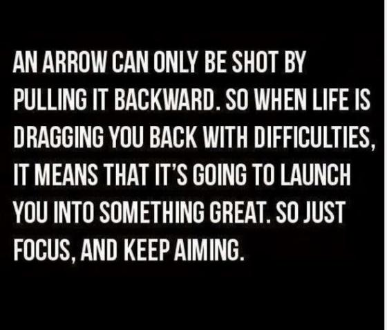 Inspirational quote, Focus and Keep aiming