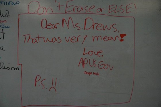 A message for Daisy Drews from AP US Government