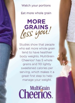 More Grains, Less You: negative body image from Cheerios Ad
