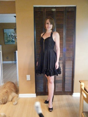 Wearing a dress and heels for my sister's bat mitzvah