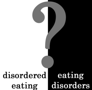 disordered eating or eating disorder?