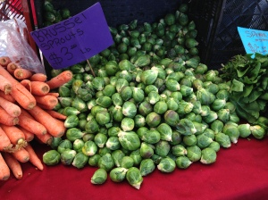 Farmers Market Brussels Sprouts