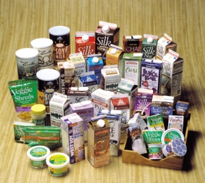 Grocery products made with soy