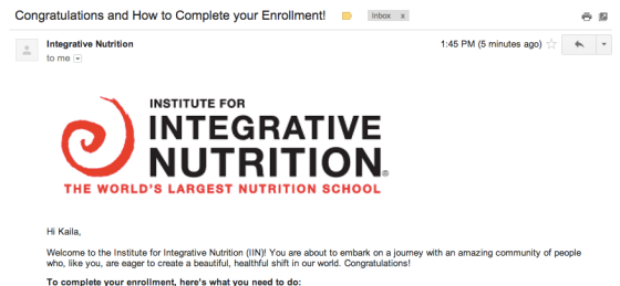 institute-integrative-nutrition-welcome-email